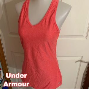 Under Armour size S Small orange tank top shirt